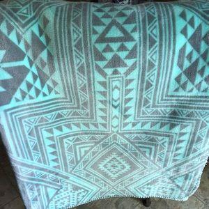 Pink Aztec Sherpa Blanket
